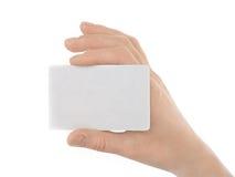 εκμετάλλευση πιστωτικών θηλυκή χεριών καρτών Στοκ εικόνα με δικαίωμα ελεύθερης χρήσης