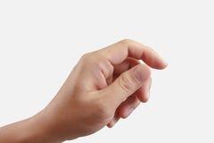 Εκμετάλλευση χεριών κάτι στοκ φωτογραφία με δικαίωμα ελεύθερης χρήσης