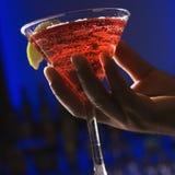 εκμετάλλευση martini χεριών Στοκ Εικόνα