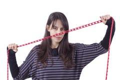 εκμετάλλευση s κοριτσιών αλυσίδων στοκ φωτογραφία