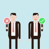 Εκμετάλλευση επιχειρηματιών λανθασμένη και σωστή Στοκ εικόνα με δικαίωμα ελεύθερης χρήσης