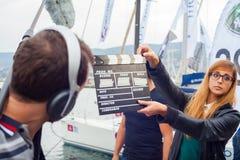 Εκμετάλλευση κοριτσιών clapperboard Στοκ εικόνα με δικαίωμα ελεύθερης χρήσης