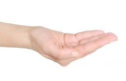 Εκμετάλλευση χεριών τίποτα στοκ εικόνα με δικαίωμα ελεύθερης χρήσης
