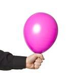 Εκμετάλλευση χεριών baloonn στοκ εικόνα