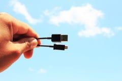 Εκμετάλλευση USB χεριών Στοκ Εικόνες