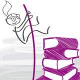 Εκπαίδευση και σταδιοδρομία - διανυσματική απεικόνιση ελεύθερη απεικόνιση δικαιώματος