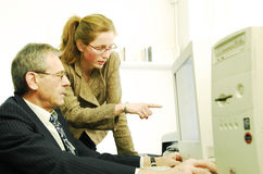 εκπαίδευση υπολογιστ Στοκ εικόνες με δικαίωμα ελεύθερης χρήσης