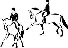 Εκπαίδευση αλόγου σε περιστροφές Στοκ Εικόνες
