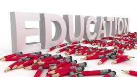 Εκπαίδευση και μολύβια Στοκ Εικόνα