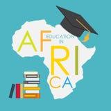 Εκπαίδευση Οικονομικής Σχολής στη διανυσματική απεικόνιση έννοιας της Αφρικής Στοκ Εικόνες