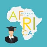 Εκπαίδευση Οικονομικής Σχολής στη διανυσματική απεικόνιση έννοιας της Αφρικής Στοκ Φωτογραφίες
