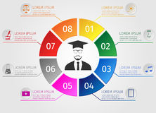 Εκπαίδευση Infographics Εκμάθηση σπουδαστών έννοιας διανυσματική απεικόνιση