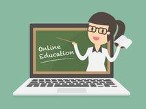 εκπαίδευση on-line Στοκ φωτογραφία με δικαίωμα ελεύθερης χρήσης