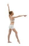 εκπαιδευτικές νεολαίες λευκών γυναικών φορεμάτων ομορφιάς στοκ εικόνα με δικαίωμα ελεύθερης χρήσης