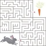 Εκπαιδευτικός ένα μαθηματικό παιχνίδι Παιχνίδι λαβυρίνθου για τα κατσίκια Διανυσματική σελίδα προτύπων με το παιχνίδι στοκ εικόνες