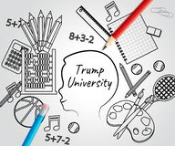 Εκπαιδευτικό κολλέγιο φοιτητών πανεπιστημίου ατού από τον Πρόεδρο - 2$α απεικόνιση στοκ εικόνα