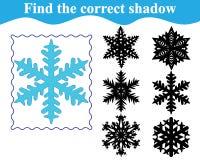 Εκπαιδευτικό παιχνίδι για τα προσχολικά παιδιά Βρείτε τη σκιαγραφία Διανυσματική απεικόνιση
