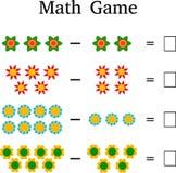 Εκπαιδευτικό παιχνίδι μαθηματικών για τα παιδιά Στοκ Εικόνα