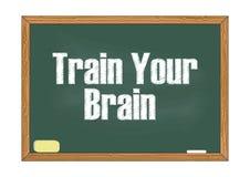 Εκπαιδεύστε τη διανυσματική απεικόνιση ειδοποίησης πινάκων κιμωλίας εγκεφάλου σας διανυσματική απεικόνιση