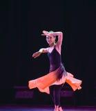 Εκπαιδευτικά μαθήματα πρακτική-διάπλασης χορού Xinjiang Στοκ Εικόνα