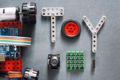 Εκπαιδευτική κατασκευή, diy παιχνίδια για τους ενηλίκους Στοκ Εικόνες