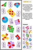 Εκπαιδευτικός γρίφος math με τα μέρη απεικόνιση αποθεμάτων