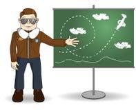 Εκπαιδευτικός πτήσης κινούμενων σχεδίων ελεύθερη απεικόνιση δικαιώματος