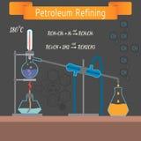 Εκπαιδευτικό εργαστήριο χημείας Εγκατάσταση για διανυσματική απεικόνιση