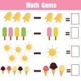 Εκπαιδευτικό παιχνίδι Math για τα παιδιά Στοκ εικόνα με δικαίωμα ελεύθερης χρήσης