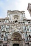 εκπληκτικά η βασιλική del απαρίθμησε το διάσημο ορόσημο Μαρία της Φλωρεντίας fiore Di exterior το περισσότερο santa νύχτας Στοκ Εικόνα