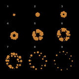 Εκραγείτε την ακολουθία ζωτικότητας Πλαίσια έκρηξης κινούμενων σχεδίων διάνυσμα διανυσματική απεικόνιση