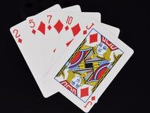 Εκροή χεριών πόκερ στοκ φωτογραφίες με δικαίωμα ελεύθερης χρήσης