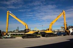 Εκσκαφέας στο εργοτάξιο οικοδομής Στοκ φωτογραφία με δικαίωμα ελεύθερης χρήσης