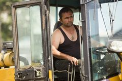 Εκσκαφέας στο εργοτάξιο οικοδομής στοκ φωτογραφίες