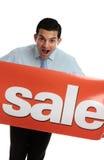 εκστατικό σημάδι πώλησης &alph Στοκ Φωτογραφία