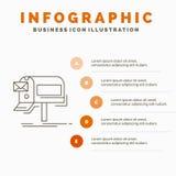εκστρατείες, ηλεκτρονικό ταχυδρομείο, μάρκετινγκ, ενημερωτικό δελτίο, πρότυπο Infographics ταχυδρομείου για τον ιστοχώρο και παρο διανυσματική απεικόνιση