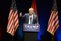Εκστρατείες του Ντόναλντ Τραμπ στο Σαιντ Λούις Στοκ Εικόνες