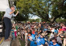 Εκστρατείες του Τέξας δημοκρατών Beto Ο ` Rourke για τη Σύγκλητο Στοκ Φωτογραφίες