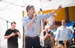 Εκστρατείες του Τέξας δημοκρατών Beto Ο ` Rourke για τη Σύγκλητο Στοκ φωτογραφία με δικαίωμα ελεύθερης χρήσης
