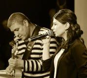 εκτέλεση τραγουδιστών τζαζ Στοκ εικόνες με δικαίωμα ελεύθερης χρήσης