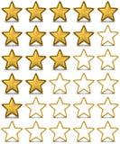 Εκτίμηση αστεριών ελεύθερη απεικόνιση δικαιώματος