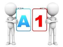 Εκτίμηση Α1 διανυσματική απεικόνιση