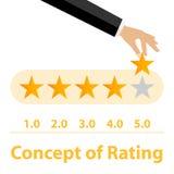 εκτίμηση Εκτίμηση πέντε αστεριών απεικόνιση αποθεμάτων
