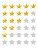 Εκτίμηση πέντε αστεριών ελεύθερη απεικόνιση δικαιώματος