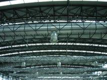 εκτεθειμένη δομή στεγών στοκ φωτογραφία