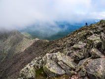 Εκτεθειμένη στενή κορυφογραμμή βουνών, άκρη μαχαιριών ` s, Katahdin στοκ εικόνα
