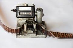 Εκτεθειμένος εξοπλισμός καμερών μήκους σε πόδηα αντίθετος στοκ φωτογραφίες