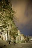 Εκτεθειμένος ουρανός στο Lapland στοκ εικόνες