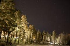 Εκτεθειμένος ουρανός στο Lapland στοκ φωτογραφίες με δικαίωμα ελεύθερης χρήσης