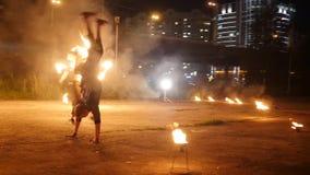 Εκτελεστές τσίρκων στην κατάρτιση Δράση σε πραγματικό - χρόνος απόθεμα βίντεο